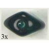 Glass Bead 4 Sided Flat 12mm Emerald - Strung